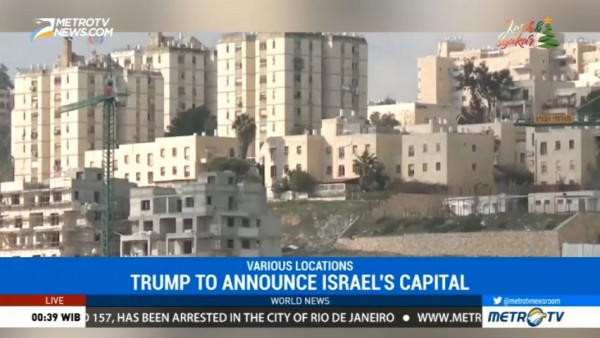 Trump to Announce Decision to Recognize Jerusalem Israel's Capital