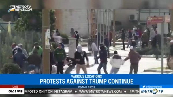 Protests Against US Recognition of Jerusalem as Israel's Capital Continue Friday