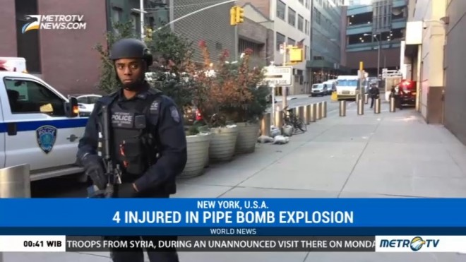 Pipe Bomber Strikes NY Subway, Four Hurt