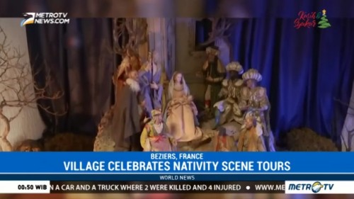 Village in France Celebrates Nativity Scene Tours
