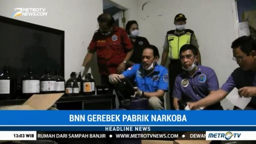 BNN Gerebek Pabrik Narkoba Berkedok Diskotek di Jakarta