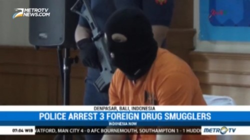 Police Arrest 3 Foreign Drug Smugglers in Bali