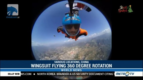 Wingsuit Flying 360 Degree Rotation