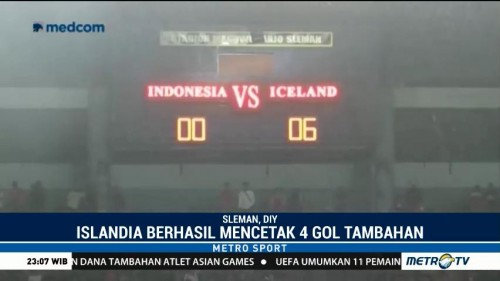 Islandia Bungkam Indonesia Selection 6-0