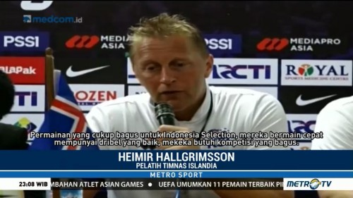 Pelatih Islandia Puji Pemain Indonesia Selection