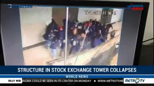 Structure in Jakarta Stock Exchange Tower Collapses