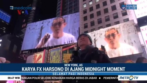 Karya Seniman Indonesia Tampil di Time Square