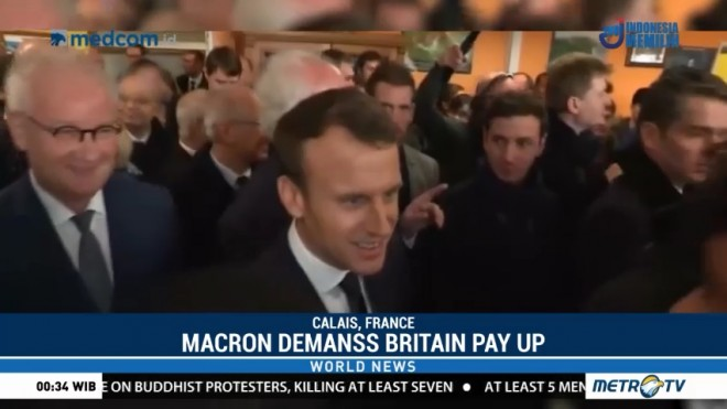 Macron Demands Britain Pay Up