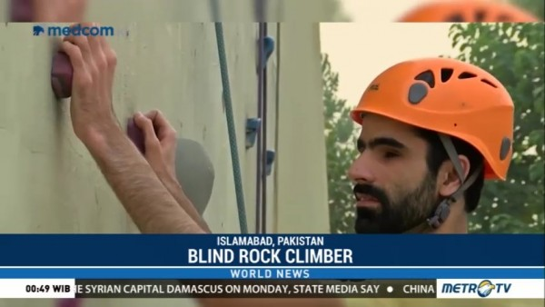 Heights Hold No Fear for Blind Pakistani Rock Climber