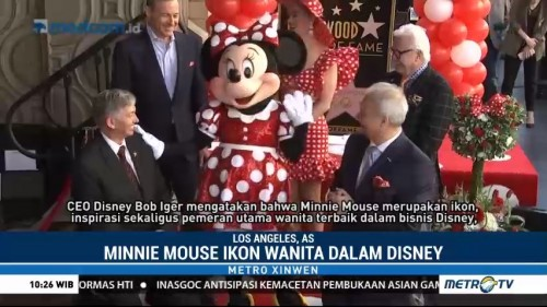 Minnie Mouse Dapat Bintang Walk of Fame
