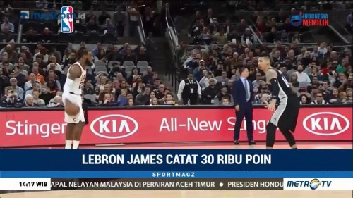 LeBron James Catat 30 Ribu Poin di NBA