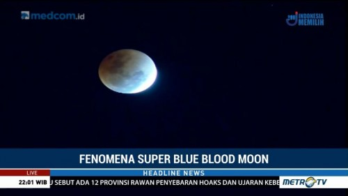 Cuaca Berawan saat Super Blue Blood Moon di Aceh