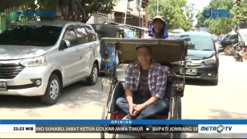 Becak Vs Ojek Online