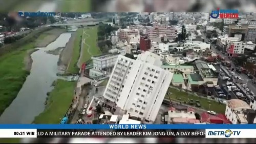 Rescuers Work to Find Survivors After Taiwan Earthquake