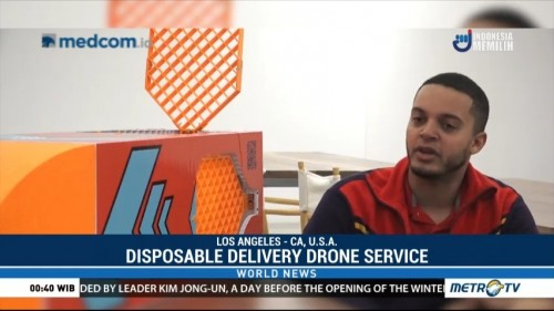 Disposable Delivery Drone Service Goes Where Other Services Do Not