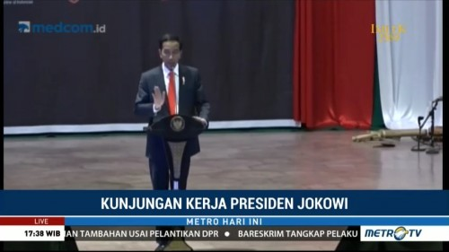 Jokowi Buka Forum Rektor Indonesia 2018 di Unhas