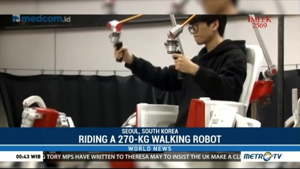 Riding a 270 Kg Walking Robot