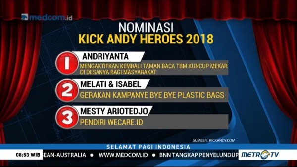 Ini 21 Nomine Kick Andy Heroes 2018