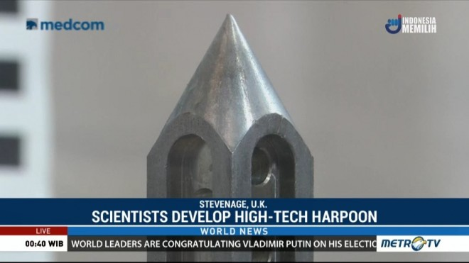 Scientist Develop High-tech Harpoon to Hunt Down Space Junk