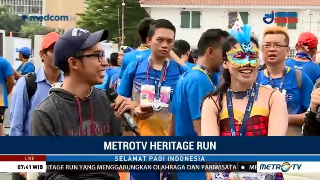 Keseruan Metro TV Heritage Run (1)