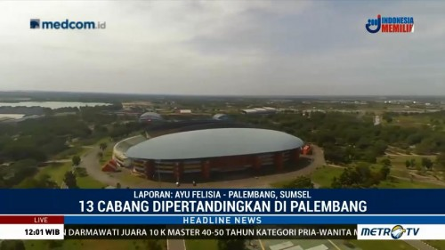 Venue Asian Games di Palembang 100% Siap Digunakan