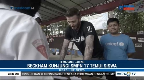David Beckham Kampanye Anti Bullying di Semarang