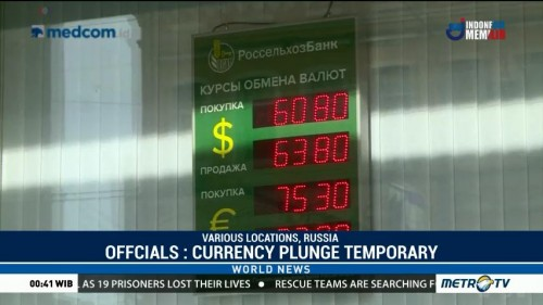 Russian Officials: Currency Plunge Temporary