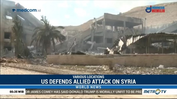 US Defends Allied Attack on Syria
