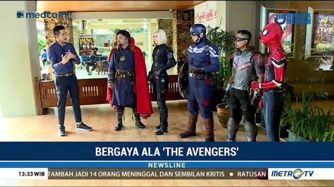 Bergaya Ala Super Hero 'The Avengers' (1)