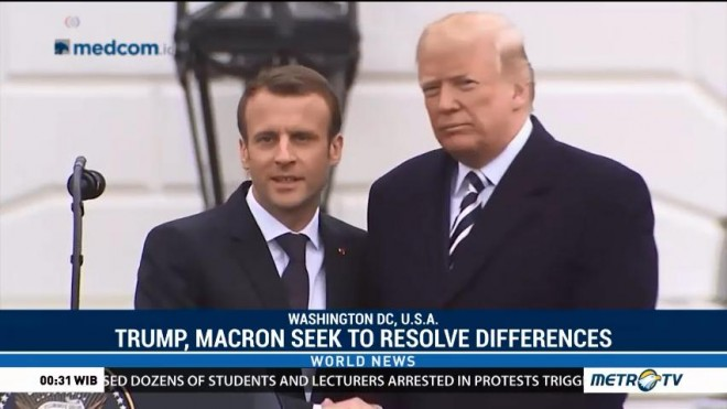 Trump, Macron Seek to Resolve Differences, Affirm Close Ties