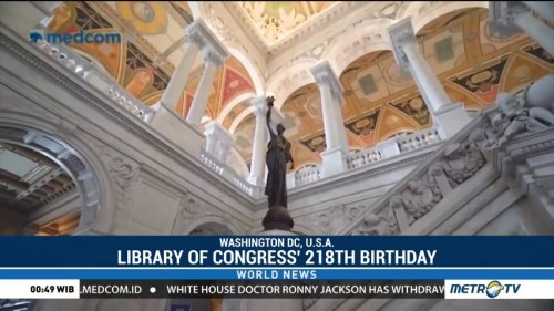 Library of Congress Celebrates 218th Birthday