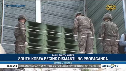 South Korea Begins Dismantling Anti-North Korea Propaganda Speakers