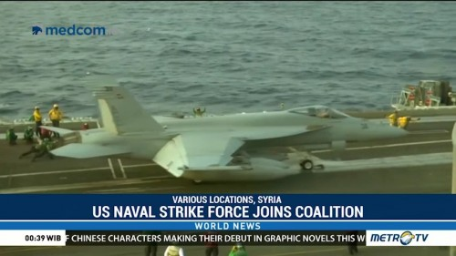 US Naval Strike Force Joins Coalition Attacking Islamic State Militants in Syria