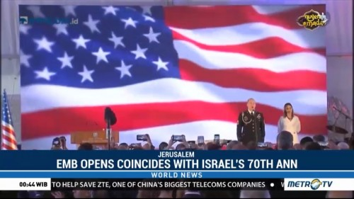 US Opens Embassy in Jerusalem to Coincide With Israel's 70th Anniversary