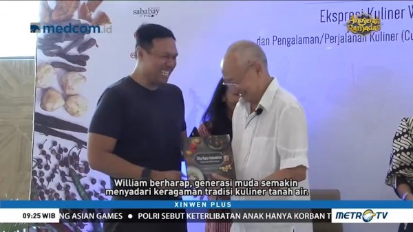 William Wongso Luncurkan Buku Cita Rasa Indonesia