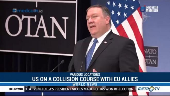 US on a Collision Course with EU Allies Over Iran Sanctions