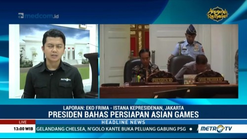 Jokowi Gelar Ratas Bahas Persiapan Asian Games