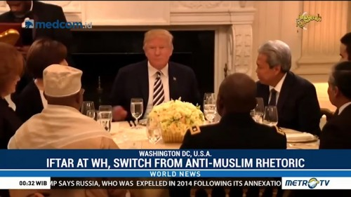 Iftar at White House, Switch from Anti-Muslim Rhetoric