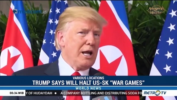 Trump Says He Will Halt US-South Korea 'War Games'