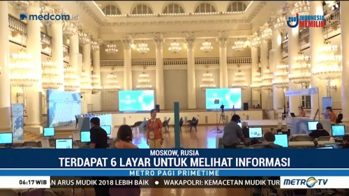 Melihat Media Center Piala Dunia 2018 di Moskow