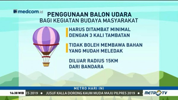 Tips Aman Menerbangkan Balon Udara