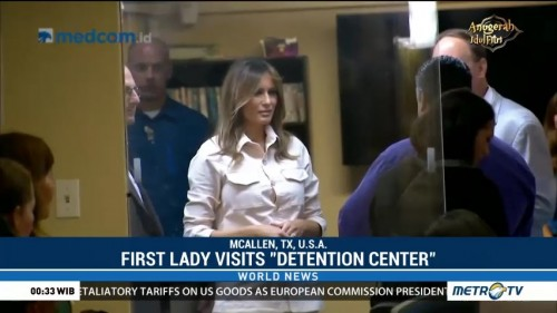 First Lady Visits Detention Center