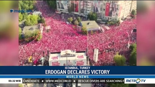 Erdogan Declares Victory After Early Counts Predict Win