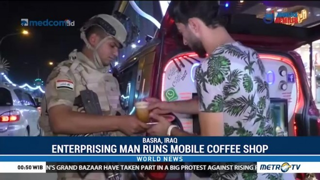 Enterprising Man Runs Mobile Coffee Shop