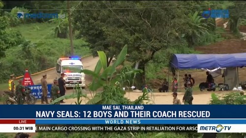 All 12 Boys and Coach Rescued from Thai Cave