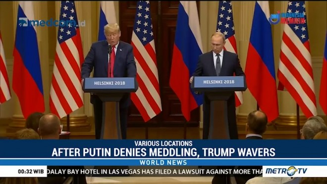 After Putin Denies Meddling, Trump Wavers