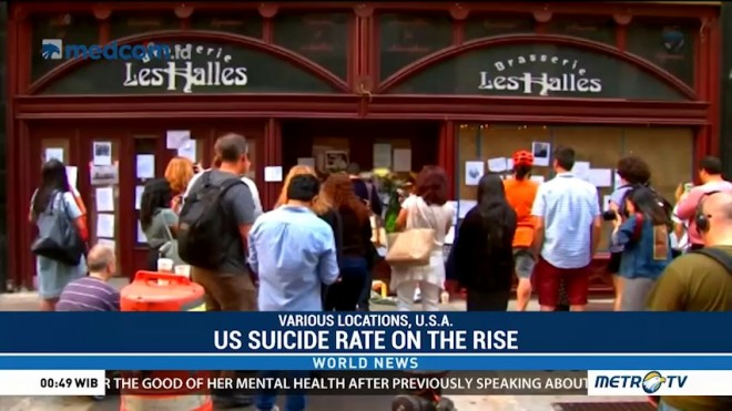 US Suicide Rate on the Rise