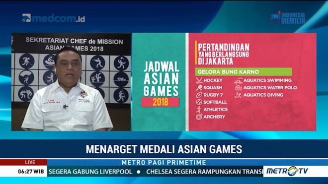 Menarget Medali Asian Games