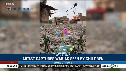 Artist Captures War As Seen by Children