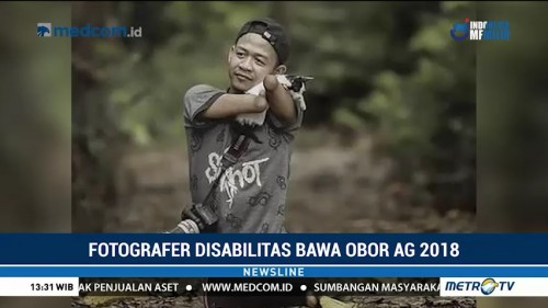 Fotografer Disabilitas Bawa Obor Asian Games 2018